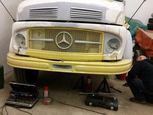 Mercedes LA 911, Mercedes Kurzhauber, Kurzhauber, Restaurierung, Lackieren, Wohnmobil