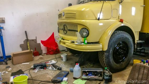Restauration Mercedes 911, Oldtimer Lkw