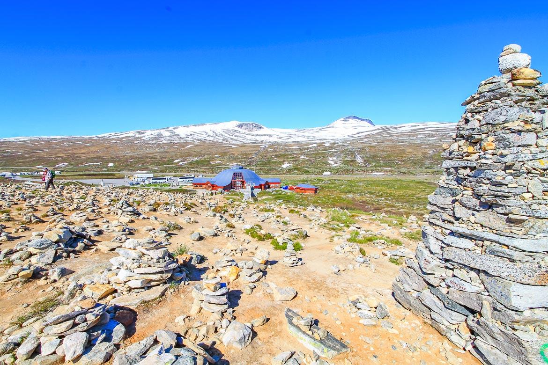 Steinmännchen Polarkreis Norwegen