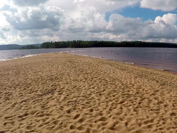 Sandstrand am See