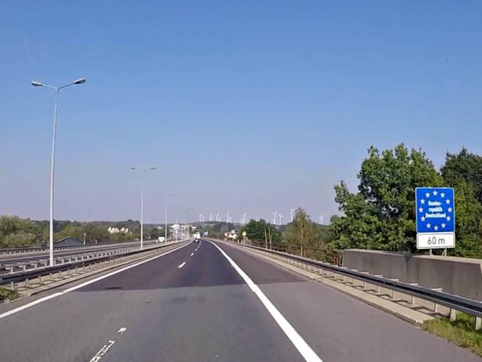 Autobahn Grenze Polen Deutschland