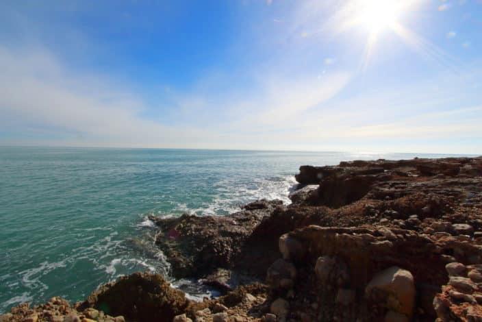 Meer Spanien Felsenküste