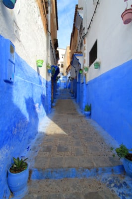 blaue Stadt Marokko, enge Gassen