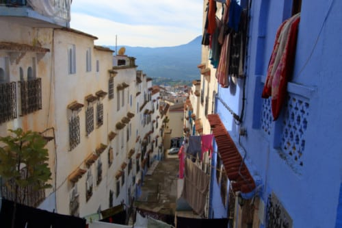blaue Stadt Marokko