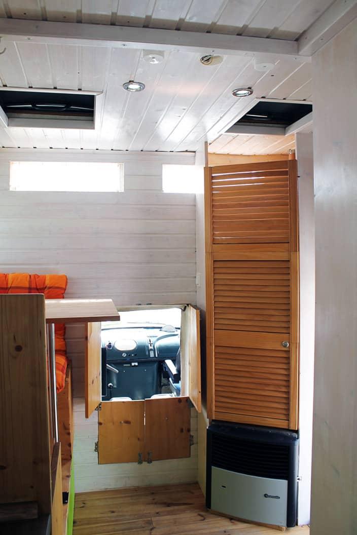 Kleiderschrank, Sitzecke, Wohnmobil