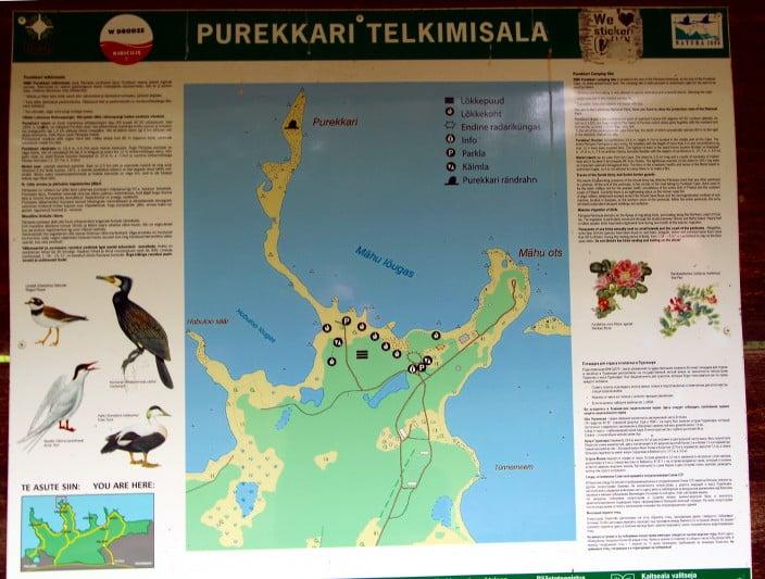 Nationalpark Lahemaa Karte