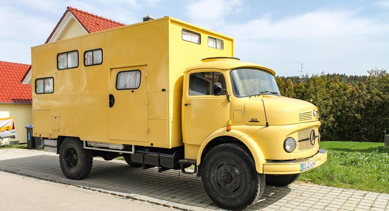 Mercedes 911, Innenausbau Wohnmobil, Kurzhauber
