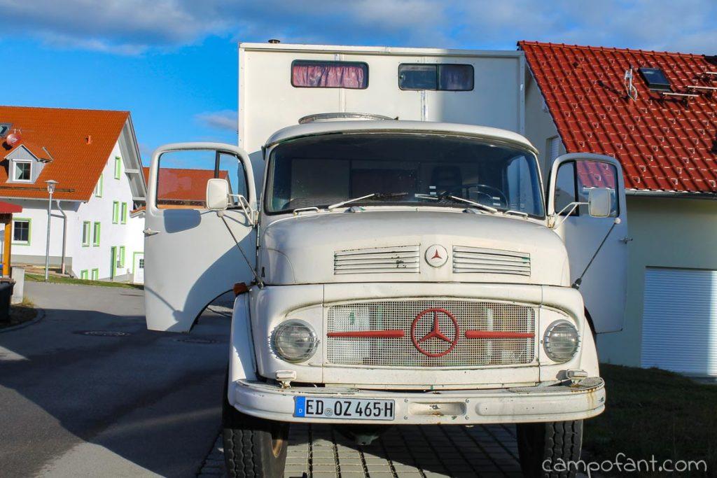 Oldtimer Lkw, Kurzhauber, Mercedes 911, Wohnmobil