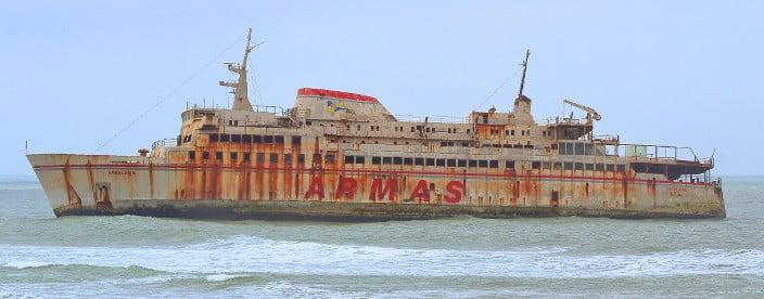 schiffswrack, assalama, tarfaya