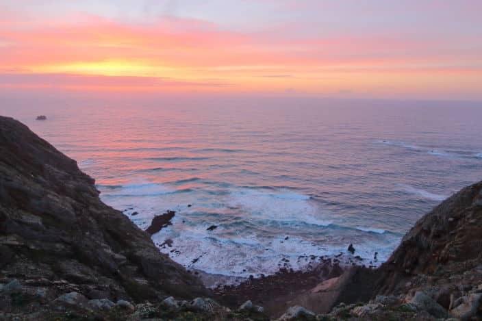Sonnenuntergang Portugal Küste