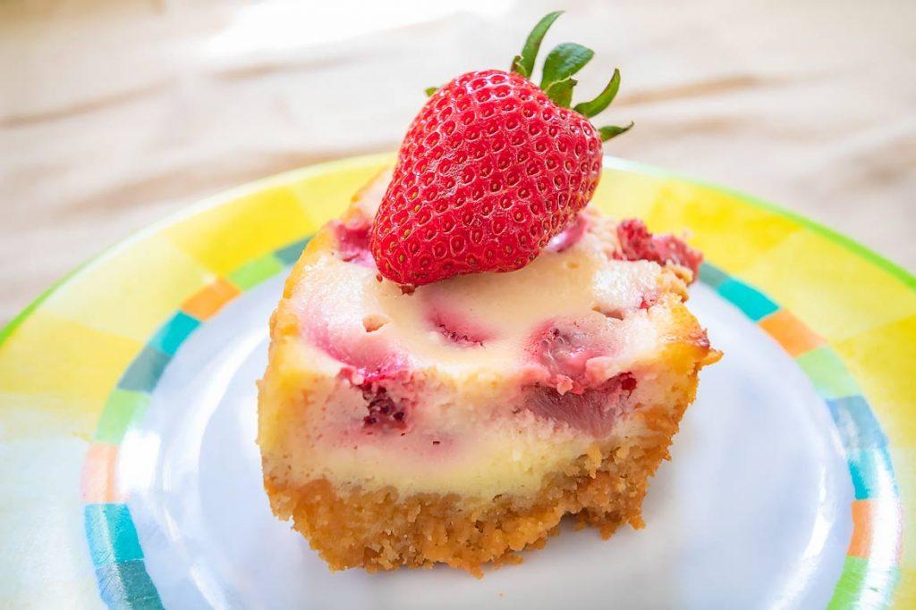 Omnia Rezept Käsekuchen mit Erdbeeren