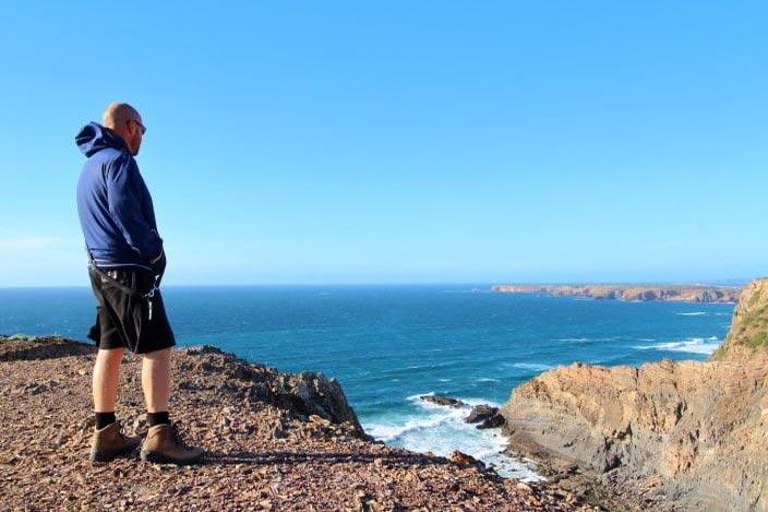 Westküste Portugal Atlantik Klippen am Meer