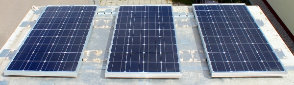 Solaranlage, Wohnmobil