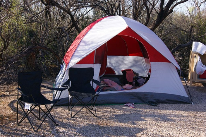 Camping, Zelt, Texas