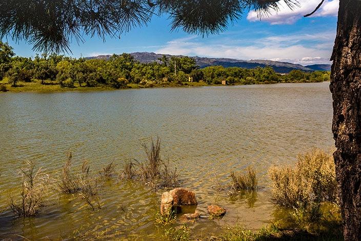 Aussicht barragen de Santa Agueda