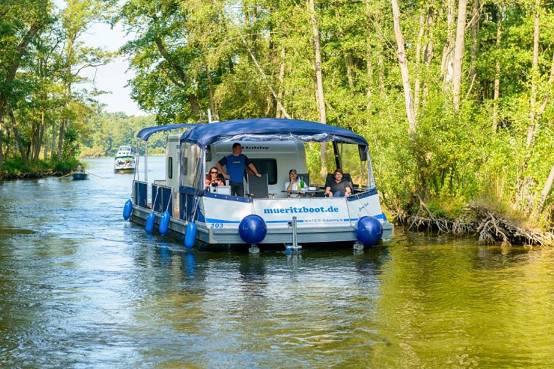 Müritzboot Wohnmobil Floß