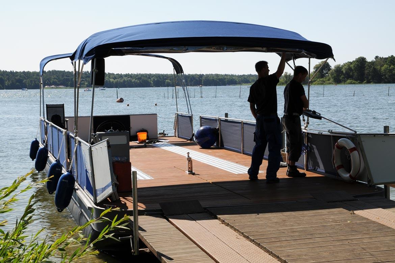 Watercamper Müritzboot