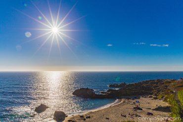 Atlantik, strand, zu kalt im Norden, ab in den Süden
