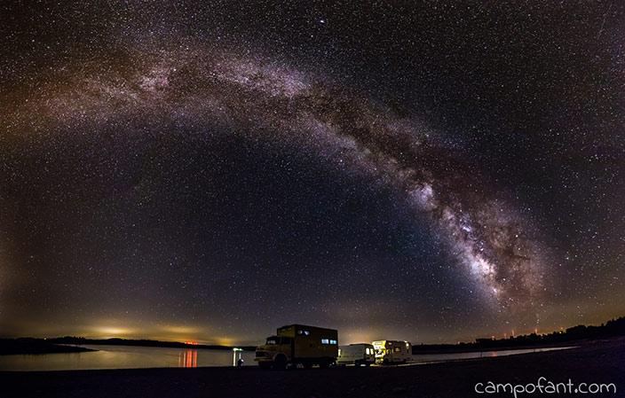 Sabugal, Milchstraße fotografieren
