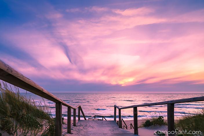 Sonnenuntergang, Vanlife, Portugal