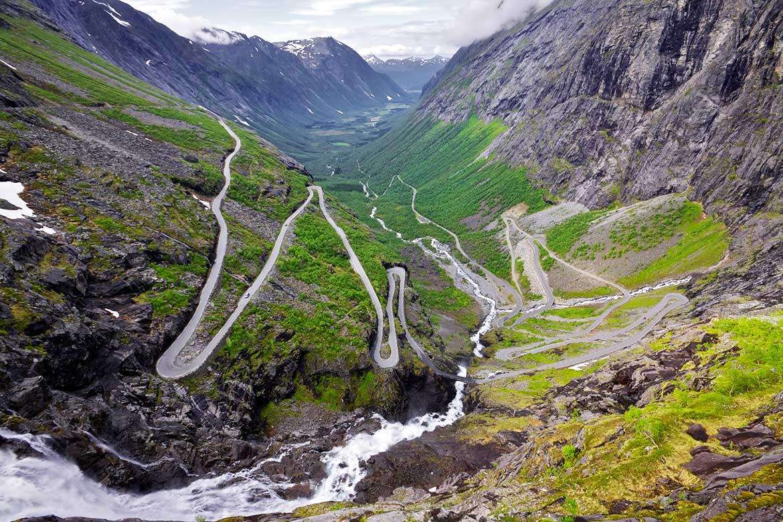 Trollstigen, Geirangerfjord, Goldene Route Norwegen
