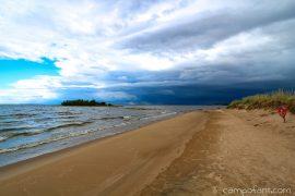 Sicherheitsvorkehrungen, Wohnmobil, Orkan, Sturm, Wind