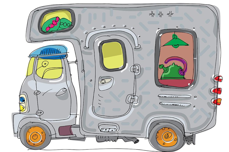 Wohnmobil überladen, drohende Strafen, Gewicht sparen, Inland, Ausland