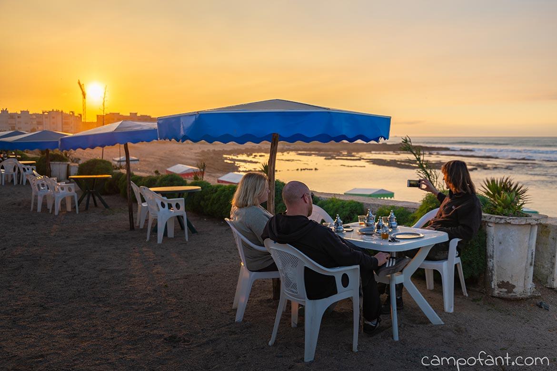Abendessen Strand Mohammedia