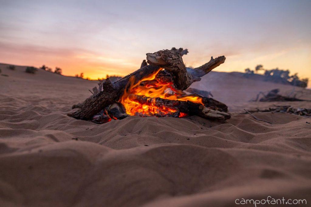 Lagerfeuer Wüste