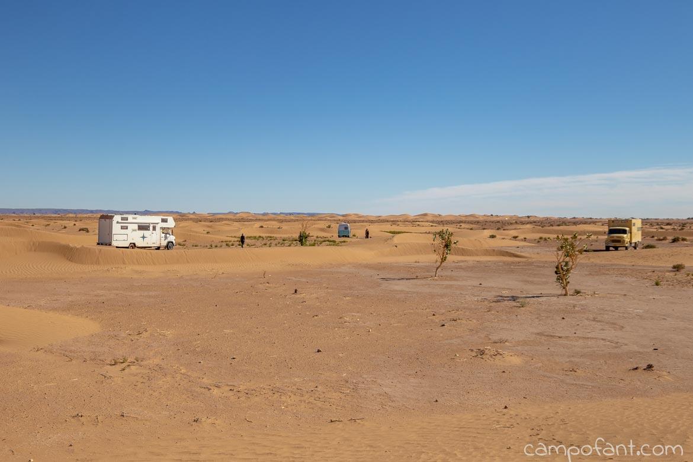 Sanddünen wildcampen
