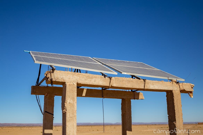 Solaranlage Wüste
