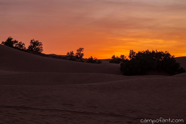 Sonnenuntergang Dünen