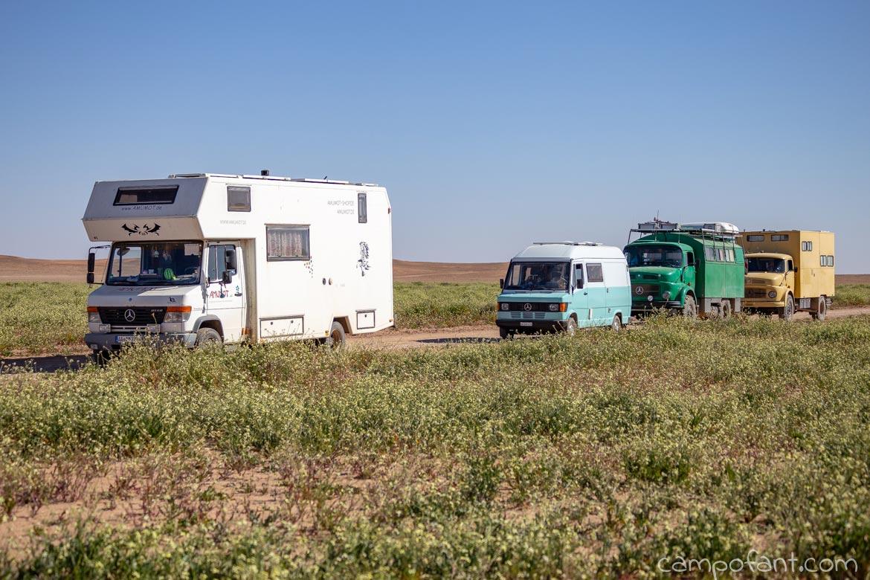 Startaufstellung Rallye