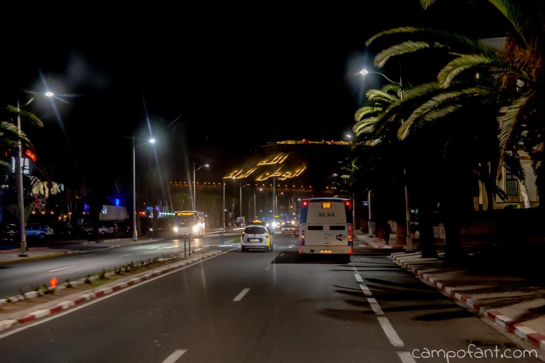 Nachtfahrt Agadir