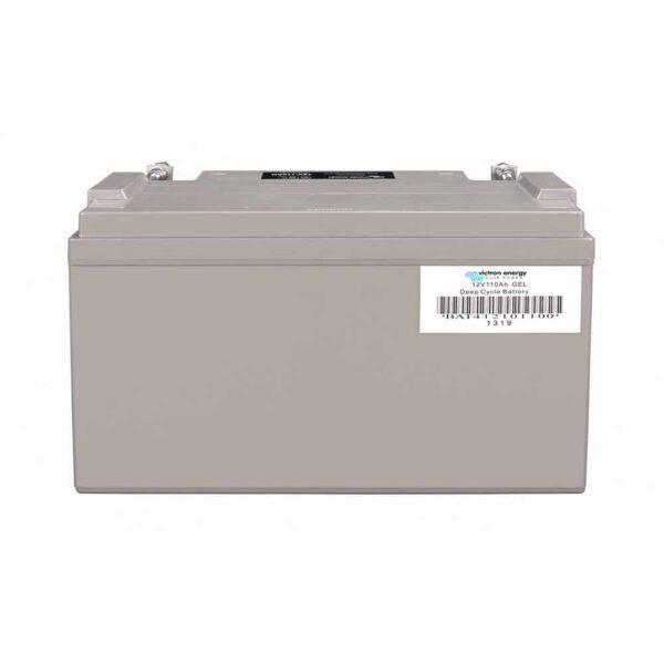 Rückseite 110 Ah Gel-Batterie Victron