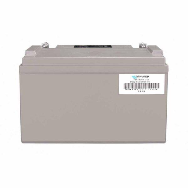 Rückseite Gel-Batterie 130 Ah Victron