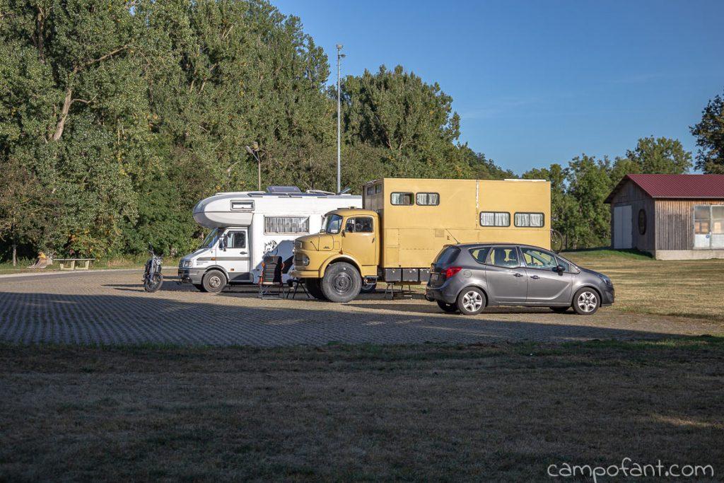 Tauberzell, kostenloser Wohnmobilstellplatz, Taubertalradweg