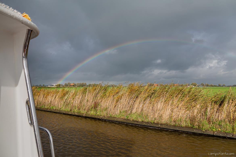 Bootstour Niederlande Regenbogen