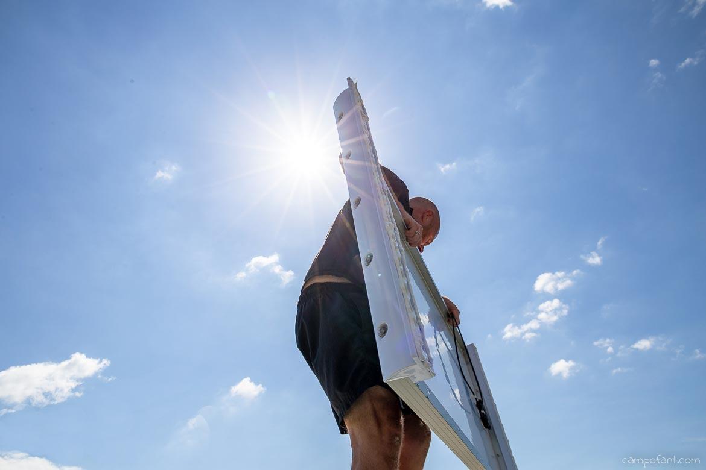 Solaranlage Alurahmen