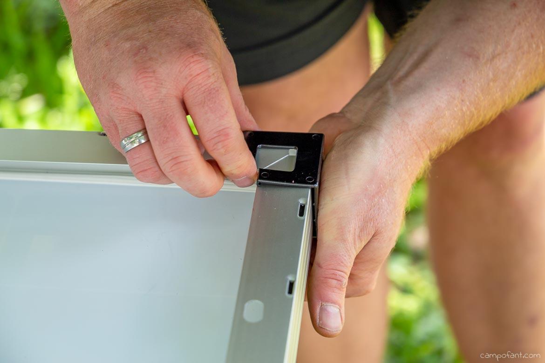 Solaranlage montieren Anleitung Schutzecken