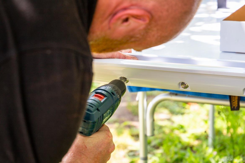 Solaranlage montieren, Haltespoiler