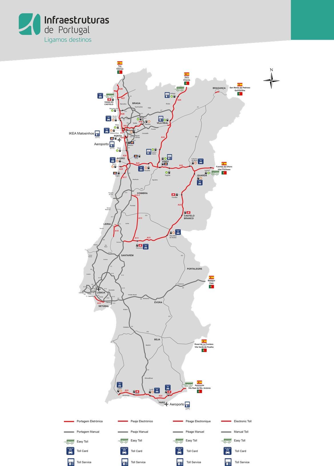 Maut Portugal Karte
