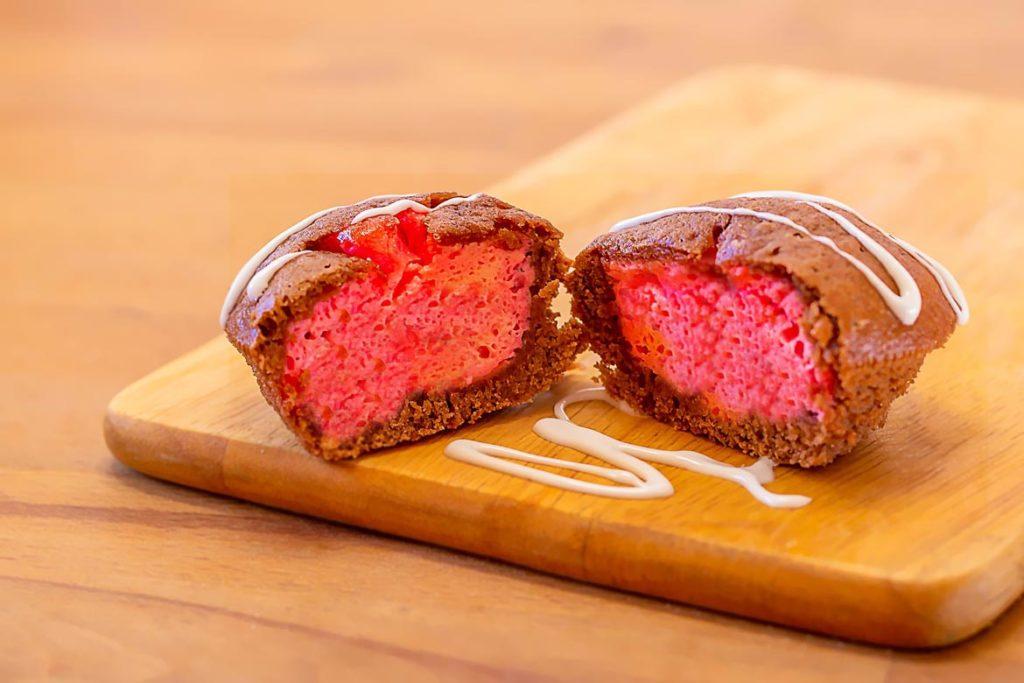 Omnia Rezept Pink Cheesecake Muffins
