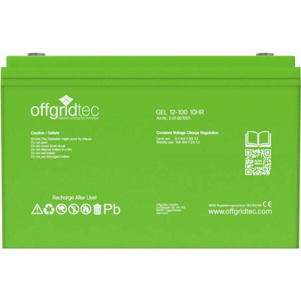 100 Ah Gel-Batterie Offgridtec