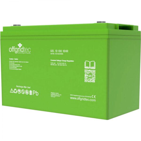 100 Ah Gel-Batterie Offgridtec 12V