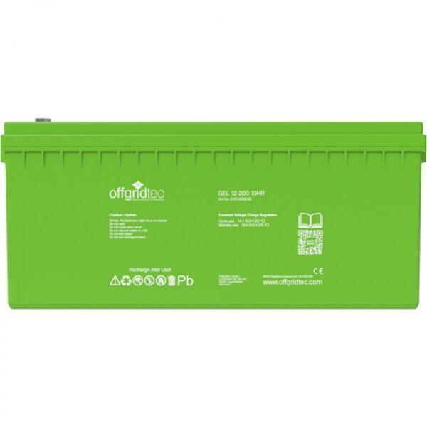 12V 200 Ah Gel-Batterie von Offgridtec
