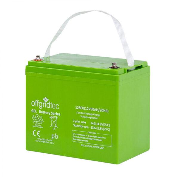 80 Ah Gel-Batterie Offgridtec 12V