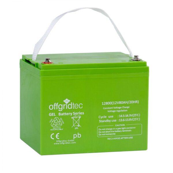 12V 80 Ah Gel-Batterie von Offgridtec