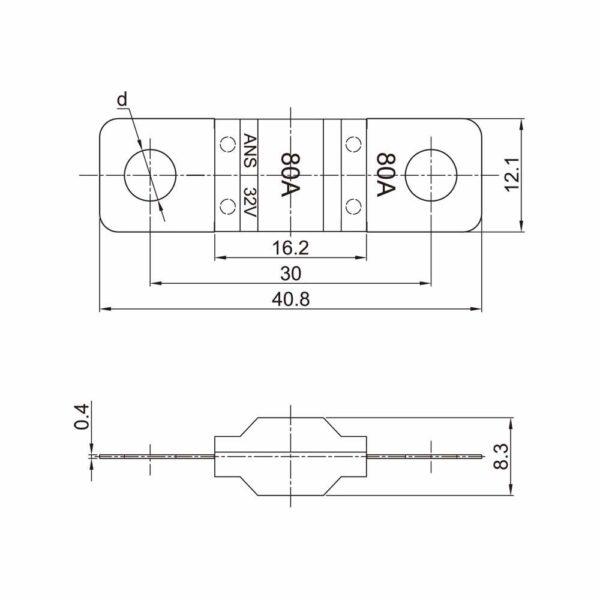 Midi Streifensicherung 30A, 40A, 50A, 100A