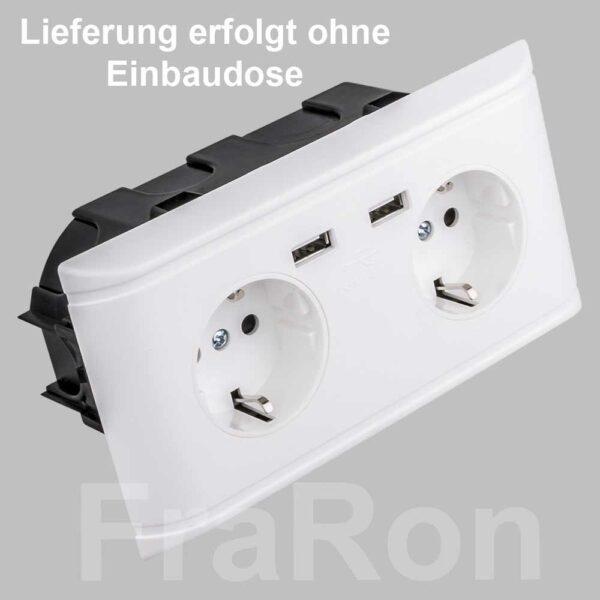 Doppelsteckdose Schuko USB